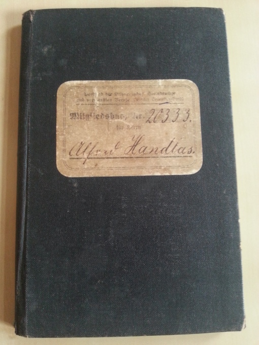 Verband der Lithographen Mitgliedsbuch 1913