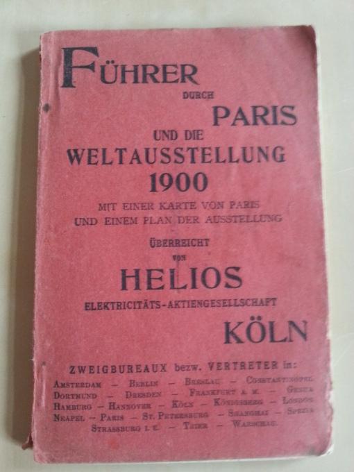 Führer Weltausstellung Paris 1900