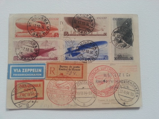 Zeppelin-Postkarte