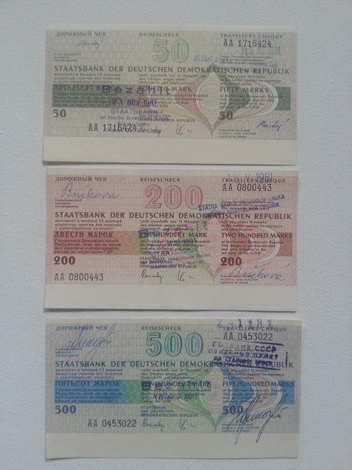 Reisen aus der DDR - Reiseschecks