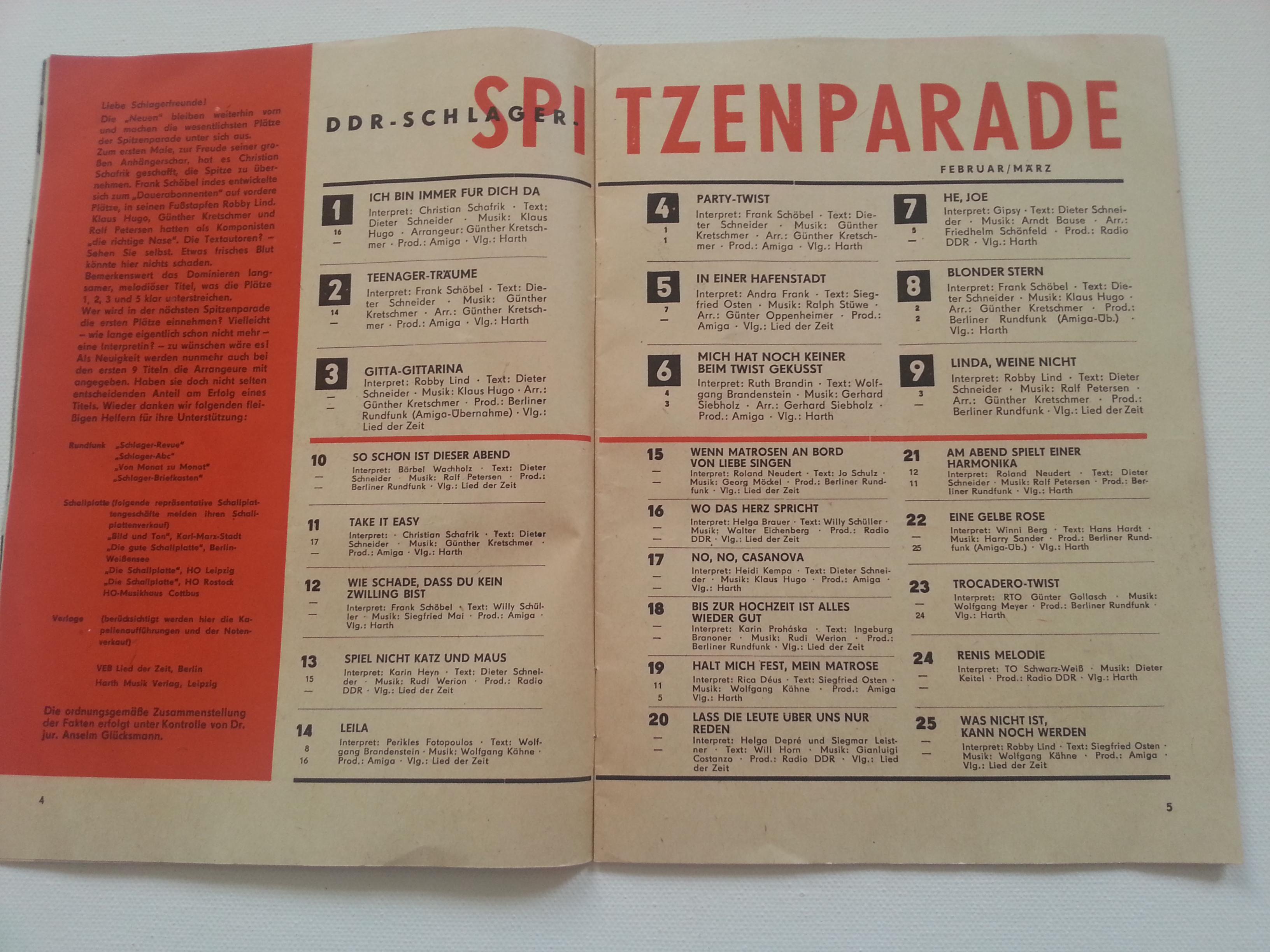 Melodie und Rhythmus 1965