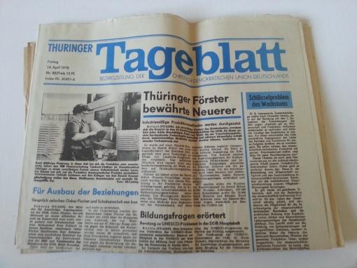 Tageszeitung Thüringer Tageblatt