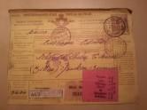 Paketschein Zoll 1914