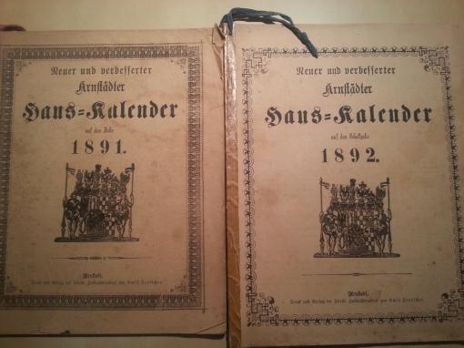 Nach Asche, Pfingsten, Kreuz, Luzei gedenke, dass Quatember sei - Haus-Kalender von 1891
