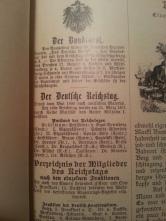 Haus-Kalender 1896 Bundesrat