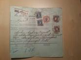 Paketschein Schweden Deutschland 1896