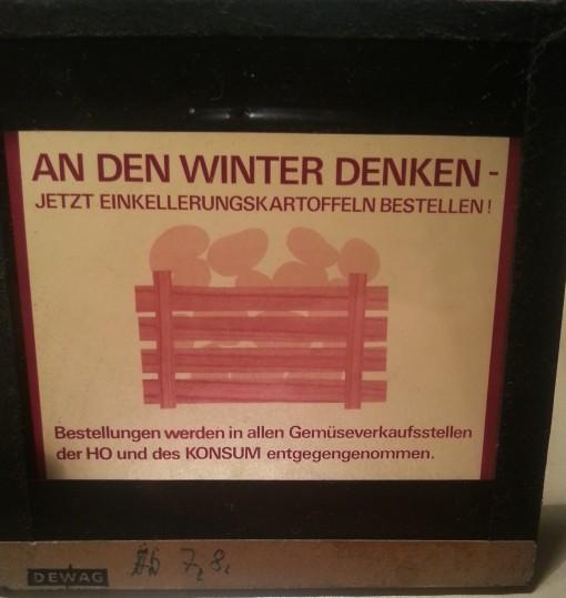 Kinodia Einkellerungskartoffeln DDR