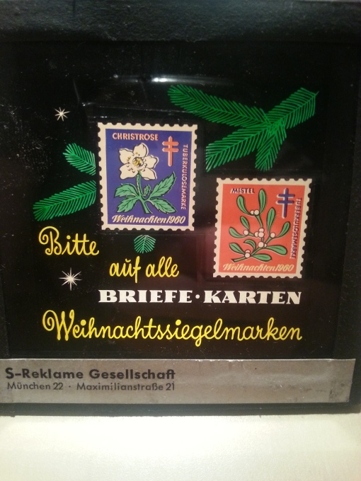 Kinodia 1960 Weihnachtssiegelmarken BRD