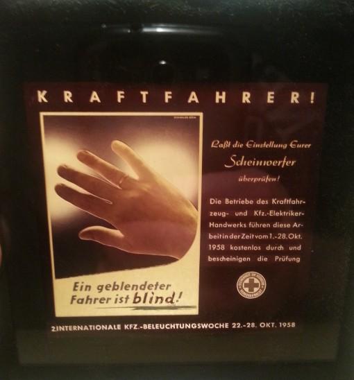 Kinodia 1958 KFZ-Beleuchtung BRD