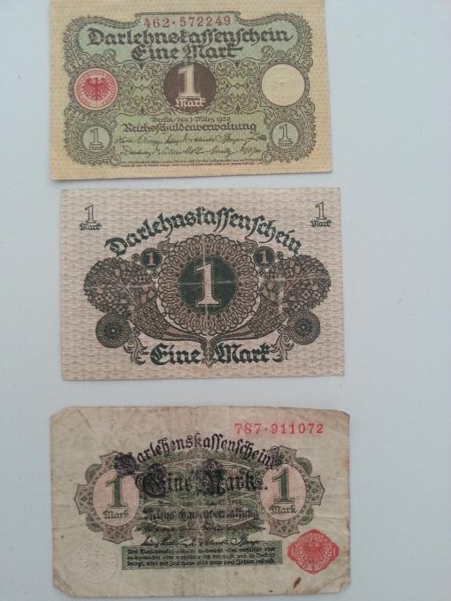 Reichsbank 1 Mark 1920 1924
