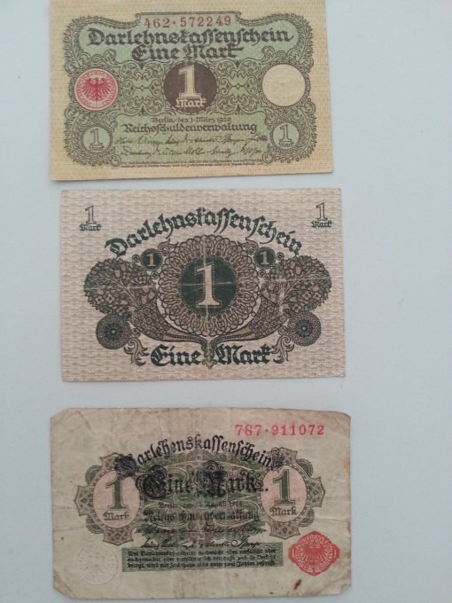 Reichsbank 1 Mark 1920 1924