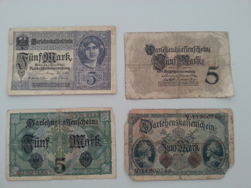 Reichsbank 5 Mark 1917 1914