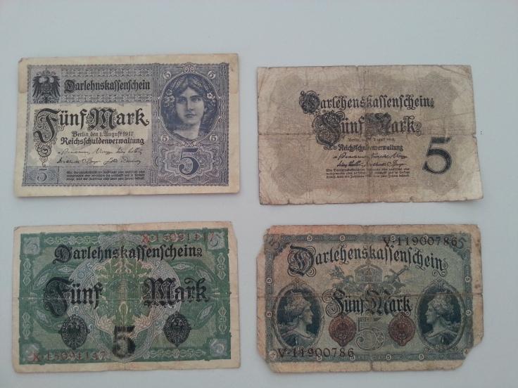 Reichsbank 5 Mark 1917 1914
