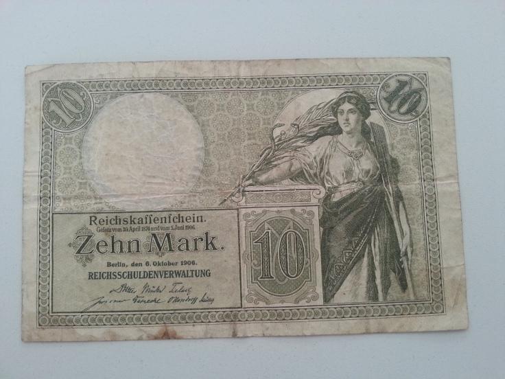 Reichsbank 10 Mark 1908