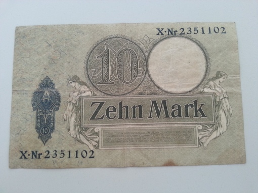 Reichsbank 10 Mark 1908