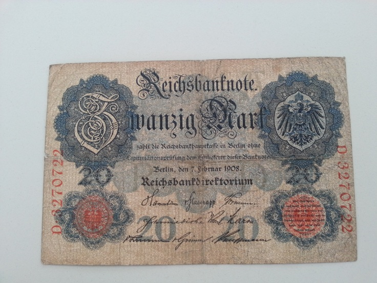 Reichsbank 20 Mark 1908