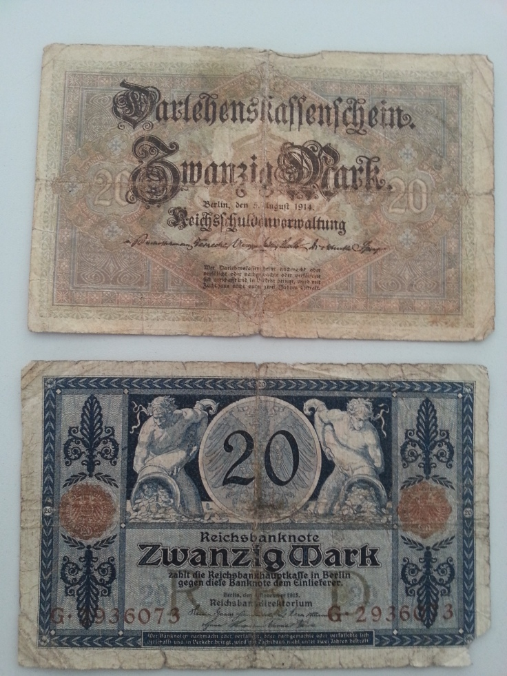 Reichsbank 20 Mark 1914 1918