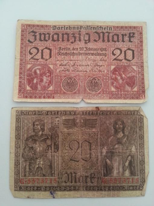 Reichsbank 20 Mark 1918