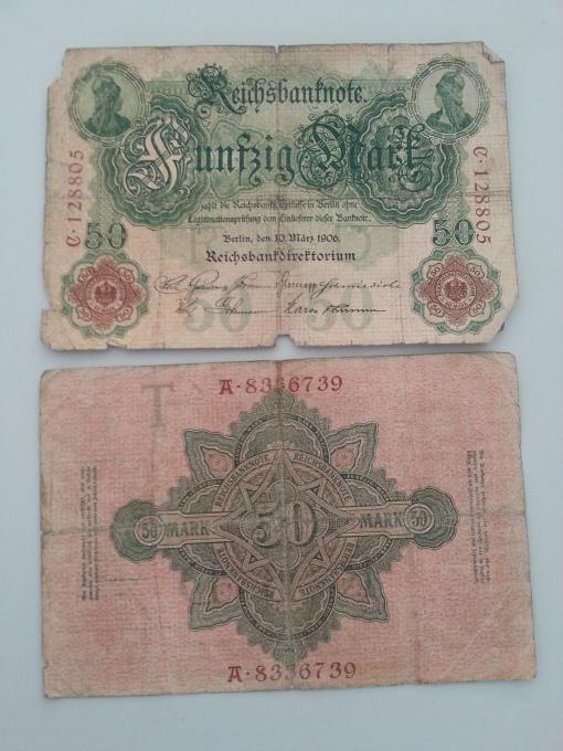Reichsbank 50 Mark 1906 1914