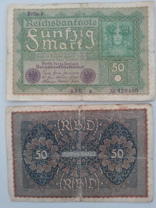 Reichsbank 50 Mark 1919