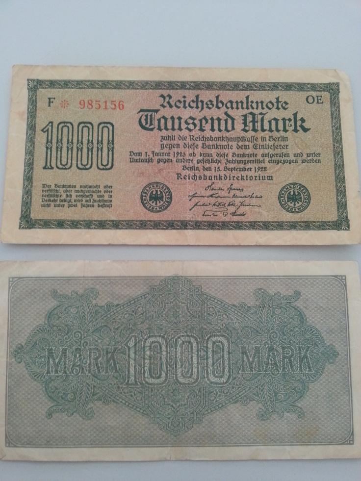 Inflation 1Tsd 19220915