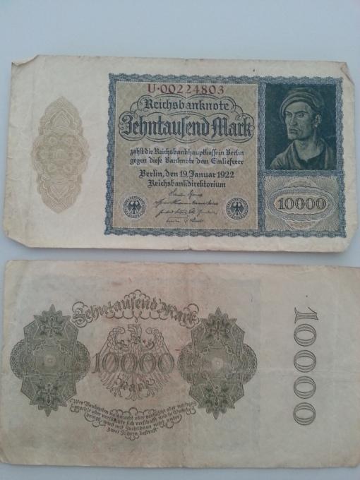 Inflation 10Tsd 19220119