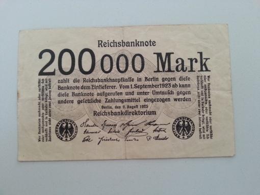 Inflation 200Tsd 19230809