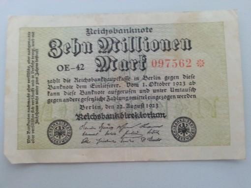 Inflation 10Mio 19230822