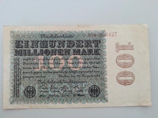 Inflation 100Mio 19230822
