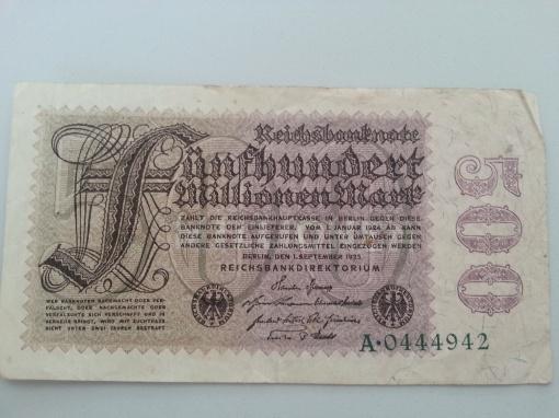 Inflation 500Mio 19230901
