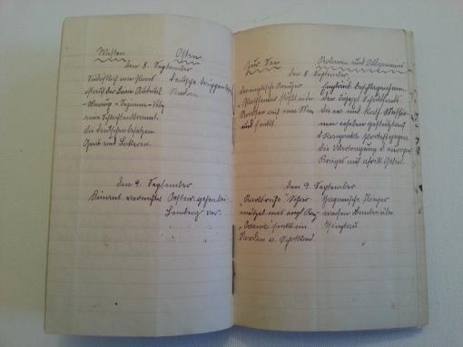 Kriegstagebuch 8. Sep 1914
