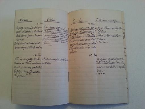 Kriegstagebuch 17. Dez 1914