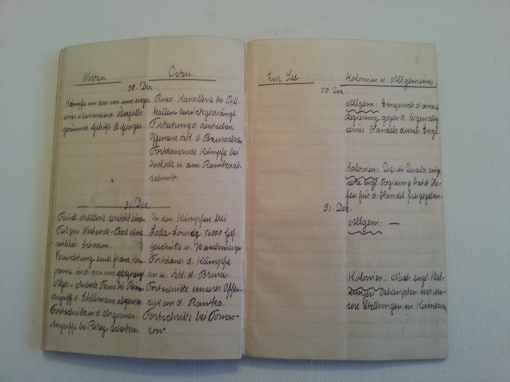 Kriegstagebuch 30. Dez 1914