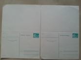 Postkarte mit Antwort DDR