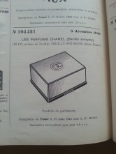 Trademark-Verzeichnis 1940 Chanel