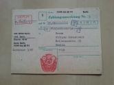 DDR Zahlungsanweisung 1987