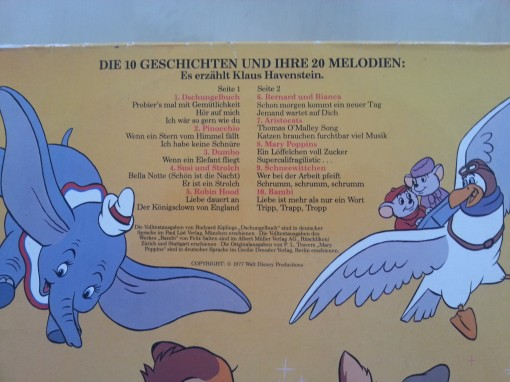 Walt Disney Schallplatte