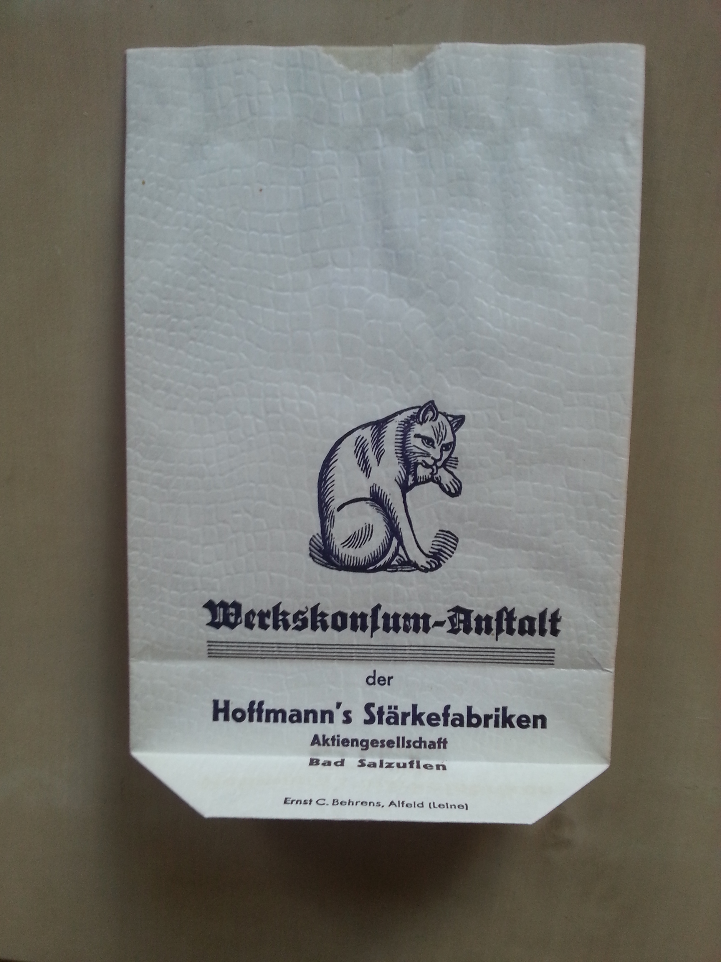 Verpackung - Verkaufstüte Hoffmann's Stärke