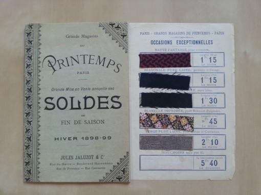 Printemps Paris Katalog 1898