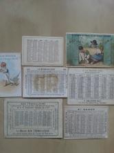 Taschenkalender Paris 1877 1878 1887 1890