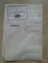 Patentbuch Trademark 1899 Liebig Cadbury