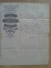 Brief Etiketten-Druckerei Pichot 1880