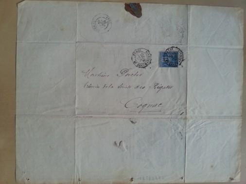 Brief Etiketten-Druckerei Pichot 1880