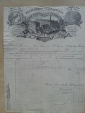 Brief Flachsspinnerei 1884