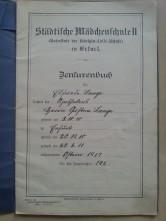 Zeugnis Oma 1919 Zensurenbuch