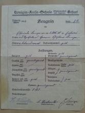 Zeugnis Oma 1922