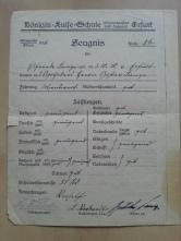 Zeugnis Oma 1923
