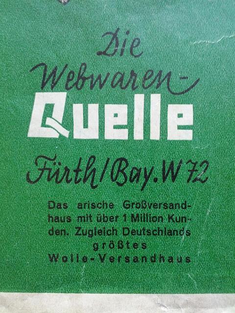 Quelle Katalog 1937 arisch