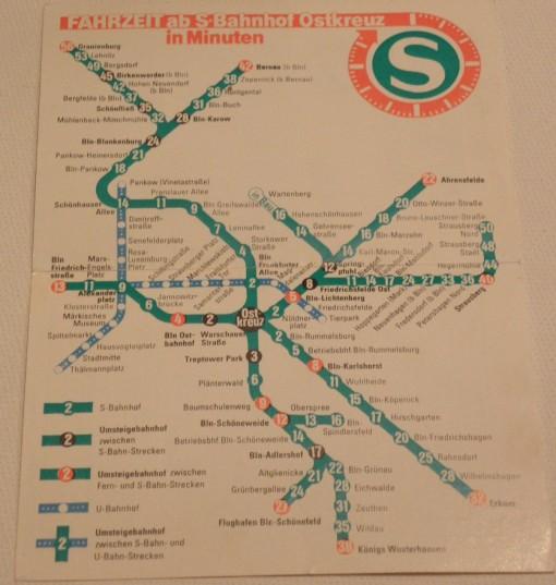 S-Bahn-Plan Berlin DDR 1985