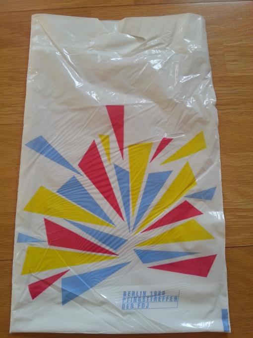 Plastetüte DDR Pfingsttreffen der FDJ 1989